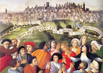 antica rappresentazione della città di Perugia